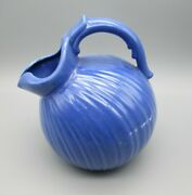 Stangl Pottery Blue Ball Jug Ice Lip Water Pitcher 1388 Colonial New Jersey Usa