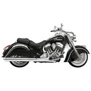 Bassani 4 S/o Performance Chrome Muffler For 14 Indian Chief Vintage