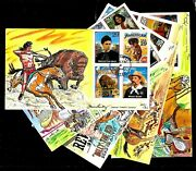 2869a-t 29c Stamps 1994 Legends Of The West Fdc Hand Painted By Paslay