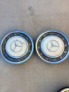 Lot Of 2 Off White 15 Mercedes Benz Hubcaps