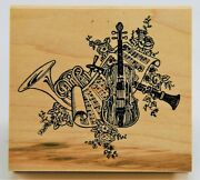 Musical Instruments Rubber Stamp, By Embossing Arts 1993