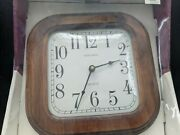 Vintage Verichron Wood Wall Clock 10.5x10.5in - New In Box 04