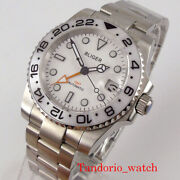 Bliger Sub Gmt Automatic Men Watches Auto Date Sapphire Crystal Oyster Bracelet