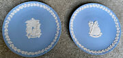 Wedgewood Christmas Pale Blue 1997 And 1998 Plates