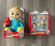🌟cocomelon Bundle Jj Doll Teddy Plush Bedtime+family And Friends Ships Fast🌟