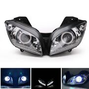 Motorcycle Headlight Assembly Angel Eyes Front Clear Headlamp For Yamaha R15