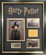 Maggie Smith Signed And Framed Harry Potter Photo Mount Display Aftal Coa