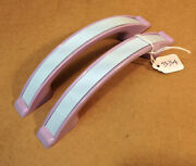 334 Early Lilac And Pale Blue Plastic Door Or Cupboard Handle Salvaged Item