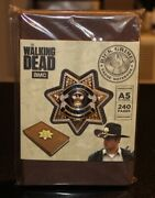The Walking Dead Supply Drop Rick Grimes Badge And Notebook - New 2019