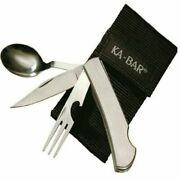 Kabar 4 In 1 Utensil Knife Spoon Fork With Bottle Opener And Black Nylon Sheath