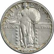 1923-s Standing Liberty Silver Quarter Au Uncertified