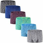 Menand039s No Ride Up Boxer Briefs Underwear Trunks With Pouch