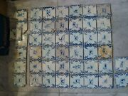 Set Nice Early Baluster 17th Century Delft Handpainted Dutch Animal Tiles 45