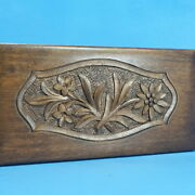 7 Antique Swiss Wood Carved Jewelry Music Box Vienna/alone Edelweiss Relief