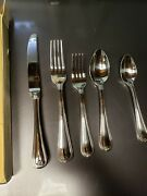 Vintage Look Jewel Frosted Lenox 40 Pc Service For 8 Flatware Stainless Set
