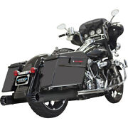 Bassani 4 Dnt Straight Can Muf. W/ Baf.blk 04-06 H-d Road King Cust.flhrs