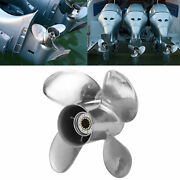 11 5/8x12 Rh Rh Outboard Propeller 4 Blades For Yamaha 25‑60hp Engine Stainless