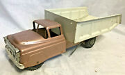 Collectible Vtg Pressed Steel Marx Dumptruck Construction Vehicle Toy