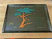 Couroc - Monterey Cypress Collectable Serving Tray Rare Signed