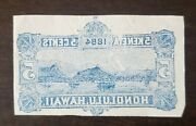 Hawaii Stamp, Rare Print With Back Mark Cut From Envelope Honolulu Used