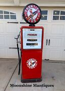 """1950's Frontier Gasoline """"rarin To Go"""" Bowser Gas Pump - Rustoration"""