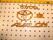 Toyota 1997 Avalon Xls Rear Deck Lid Gold Plated Plastic Oem 1 Set Of 4 Emblems