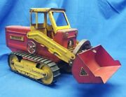 1950 And039s Nylint Toys Hough Pressed Steel Payloader Tractor Working