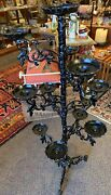Large, Tall Floor Candelabra Or Cactus Holder, Gothic, Medieval