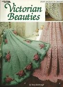 Victorian Beauties Crochet Popcorn Square Stripe Lacy Pineapple Roses Filet Book