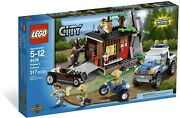 Lego City Robber's Hideout 4438 Brown Bear Forest Police Truck Hot Rod Atv Cabin