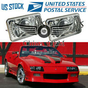 Universal 4x6 Square Projector Headlamp Led Lamps Driving Light Bumper Lights