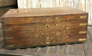 Antique Inlaid Jewelry Box With Mirror Beautiful Carved Chest Storage Chest Box