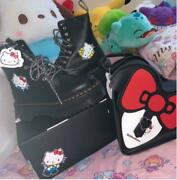 Dr. Martens X Hello Kitty Bag And Jadon Hk Boot Platform 8hole Boots Uk5 Tracked