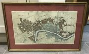 1776 Antique Map Plan Of London, Westminster And Southwark To 1777