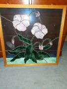 Stained Glass Window Hand Made Flower Design