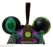 New Disney Parks Haunted Mansion Mickey Ear Hat Christmas Holiday Tree Ornament