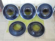34 35 Cadillac Wire Wheel Disc Covers Set 5 Trim Ring Hubcap Surround 1934 1935