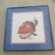 Chief Wahoo Walter Goldbach Signed-framed Indians Lithograph 984/1948 New