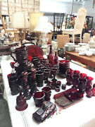 Avon Collection 1876 Cape Cod Ruby Red  Dinnerware Set 86 Pieces