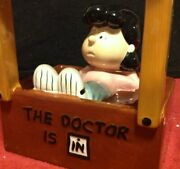 Ultra Rare Vintage Westland 18218 Peanuts Dr Lucy Ceramic Psychiatric Booth Bank