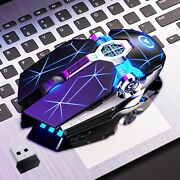 Wireless Optical Usb Mice Gaming Mouse 7 Color Led Backlit Rechargeable For Pc