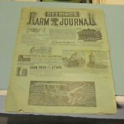 March 1884 Deering's Farm Journal Magazine Great Ads Pictures Of Items Mowers