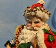 Santa And Children...lifelike Jolly St. Nick With Tots ....so Cute