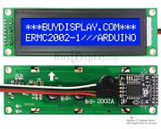 Blue Iic/i2c/twi Character 20x2 Serial Lcd Module Display For Arduino W/library