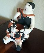 Mother Story Teller Native American Large Clay Figurine Carol Suina Cochiti