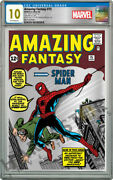 Marvel - Amazing Fantasy 15 - Silver Foil - Cgc 10 Gem Mint First Releases