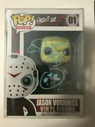 Cj Graham Jason Voorhees Friday The 13th Signed Funko Pop Bas Certified Blue