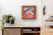 Stanley Casselman Acrylic Painting 1987 Framed Abstract Expressionist Richter