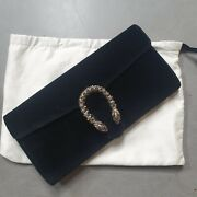 New Rare Discontinued Womens Dionysus Velvet Black Clutch Bag - Rrp Andpound1450