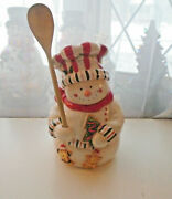 Snowman Gingerbread Christmas Cookie Jar Holiday Treats Home Decor By Atico Rare